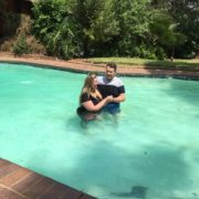 Tanya being baptised