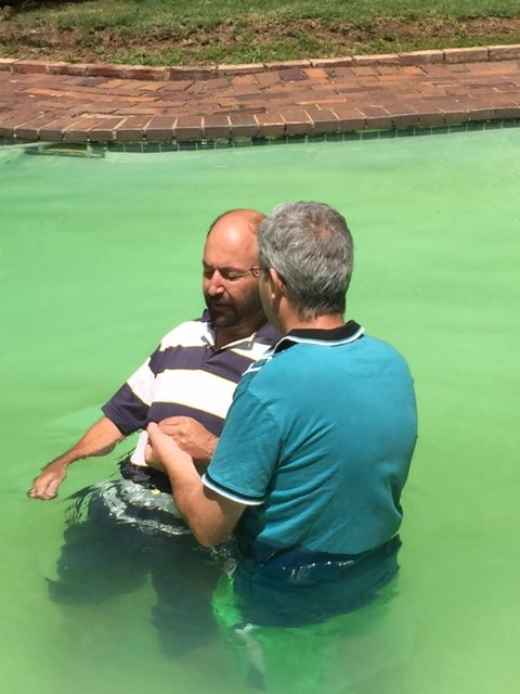Erik gets baptised